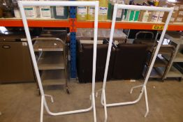 * Two white clothes rails collapsible 650 long each