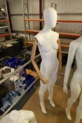 * Quality female mannequin with articulated wooden arms on stand