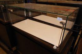 * Glazed illuminated display case storage drawers beneath led lighting 1000 x 500 x 1100 locking