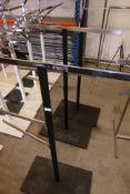 * Three 2-way waterfall rails black with nickel effect arms