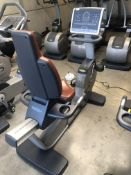 *Technogym 700 Series Recumbence Exercise Cycle with LED Panel