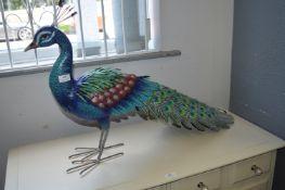 *Evergreen Life Sized Metal Peacock