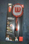 *Wilson Outdoor Badminton Set with 4 Rackets