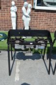 *Camp Chef Explorer 2X Two Burner Barbecue (missing grill pans and gas pipes)