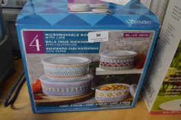 *Signature 4pc Microwavable Bow with Lid Set