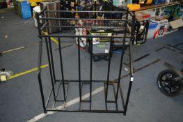 *Black Metal Storage Rack