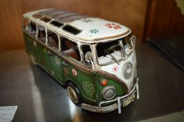 Metal Camper Van Ornament