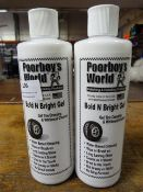 *2x 500ml of Poorboy's World Bold & Bright Gel Tyre Dressing & Whitewall Cleaner