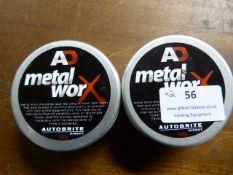 *2x 100g of Autobrite AD Metalworx Polish