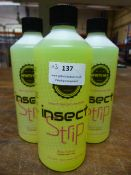*3x 500ml of Infinity Wax Insect Strip