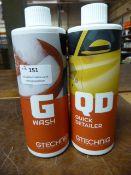 *1x 500ml of Gtechniq G Wash, and 1x 500ml of Gtechniq QD Quick Detailer