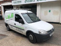 *Vauxhall Combo Van Reg: VU09 FYF, MOT: Aug 2021, Mileage: 99,227