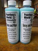 *2x 500ml of Poorboy's World Spray & Wipe Waterless Wash Detailer