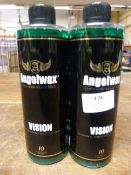 *2x 500ml of Angel Wax Vision Glass Cleaner