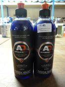 *2x 500ml of Autobrite Purple Velvet High Suds Gloss Shampoo