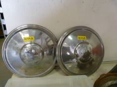 Two Hub Cap Embossed with Armstrong Sidley Chrome