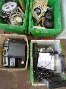 Four Boxes of Car Radios, Radio Cassettes, and Speakers, etc.