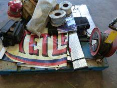 Pallet Containing Cable, Extension Lead, Reflectors, Mini Printer DP1009