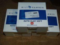 *3x 200g Bilt Hamber Clay Bars