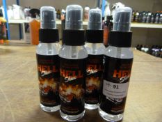 *4x 100ml of Hell Shine Ghost Rider Sprays