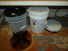 *Two Grit Gard Bucket with Attachments and Grit Guards