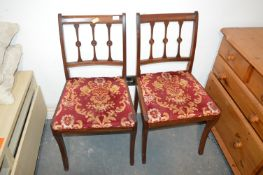 Pair of Vintage Mahogany Side Chairs