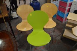 Three Stackable Chairs