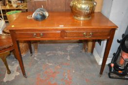 Period Mahogany Side Table on Casters