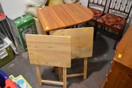 Drop Leaf Table and Two Folding Tables