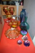 Carnival Glass plus Paperweights, Vases, etc.