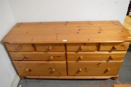 Eight Drawer Pine Chest