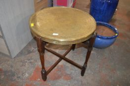 Eastern Brass Topped Folding Table