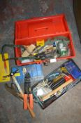 Small Toolbox and Contents pus one other