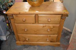 Four Drawer Pine Bedroom Chest