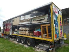 *Double Deck Curtainside Trailer (Reserve removal until contents cleared)
