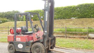 *2004 Nissan 2.5ton Gas Forklift. Pneumatic Tyres NO VAT