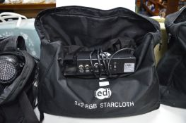 LEDJ 3x2m RGB Star Cloth with Controller and Bag