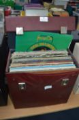 """Record Case Containing 12"""" LPs and Singles"""