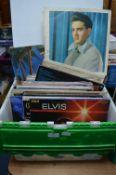 """Vintage Oldies 12"""" LP Records: Elvis, etc."""