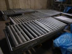* Roller conveyor sections - rollers 1050w. 4 x sections @ 2.5m long = 10m