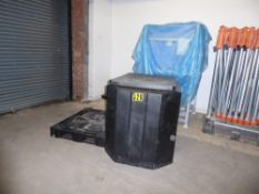 * 10 x Industrial IBC type heavy duty black plastic containers. Have been used to store granulated