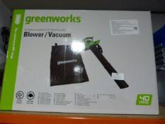 *Greenworks Blower/Vacuum