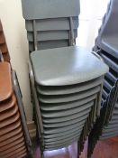 *Thirteen Children's Tubular Framed Grey Plastic Stackable Chairs