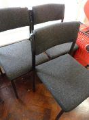 *Three Grey Upholstered Chairs