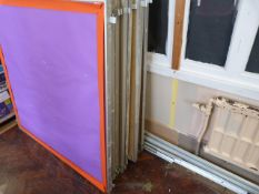 *Metal Framed Ten Section Display Board (each section ~120x120cm)