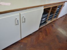 *Storage Unit with Two Cupboards and Tray Rack ~302x70x60cm