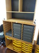 *Two Mobile Storage Units with Trays, and a Small Shelf Units