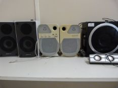 *Two Pairs and One Single Speakers with Mounting Brackets