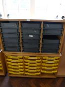 *Two Mobile Storage Units with Trays