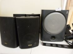 *Two Pairs of Speakers and a Single Speaker with Mounting Brackets